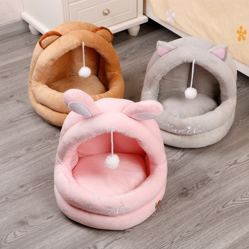 Hanging Fur Ball Washable Cat Bed