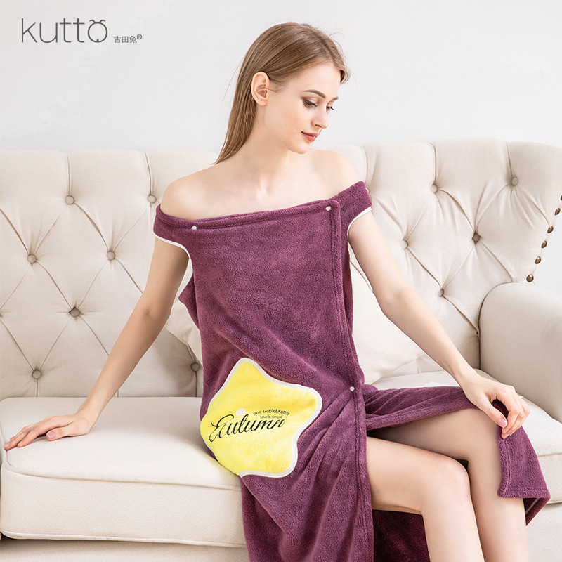 Trendy Wearable Fast-Drying Bathrobe Towel for Wedding Gifts