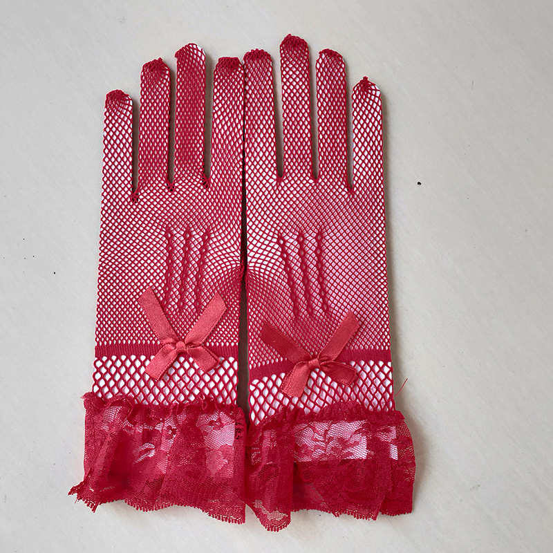 Knitted Mesh Lace Gloves for Wedding
