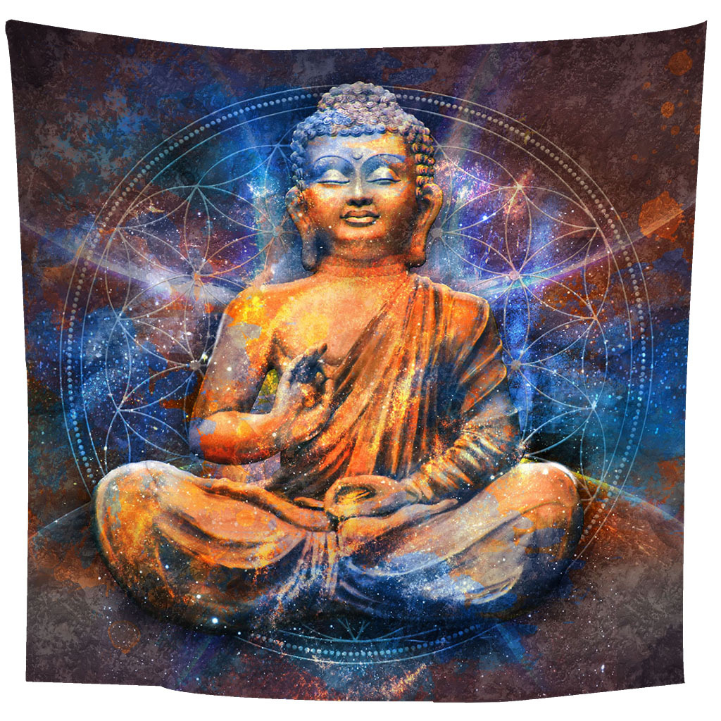 Creative Buddha Print Wall Tapestry for Home Decoration