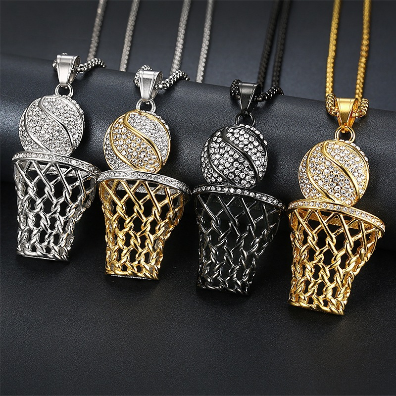 Basketball Fanatic Pendant and Necklace Chains
