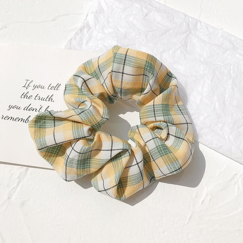 Classic Floral and Plain Scrunchie for Everyday Use