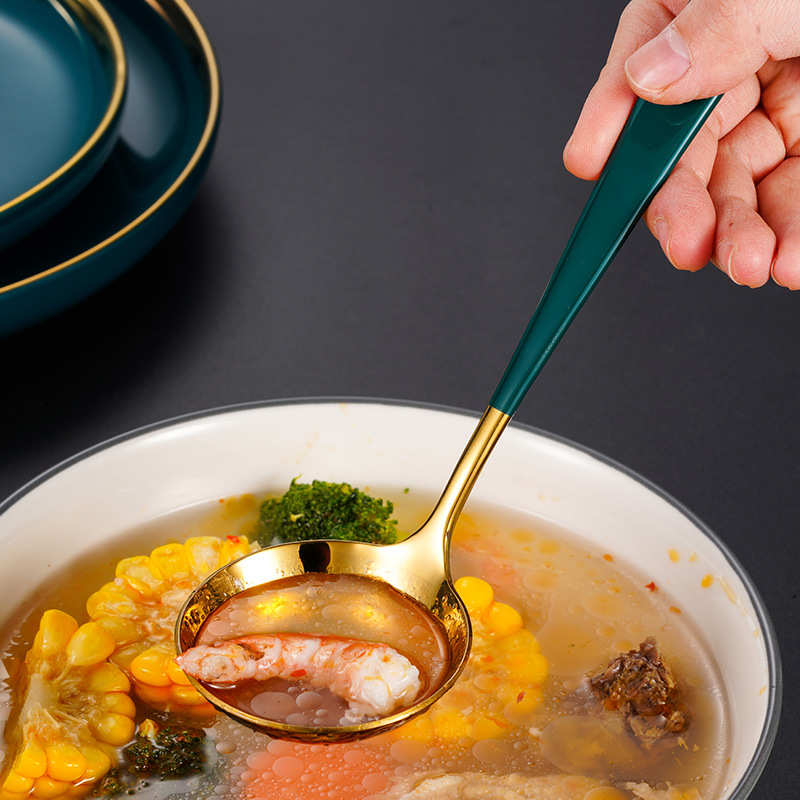 Long Handle Spoon and Colander for Fine Cooking