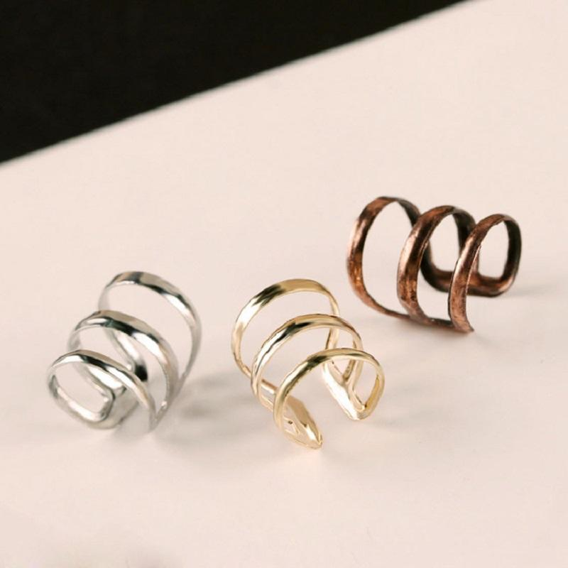 Triple Ring Alloy Ear Cuff (Color Varies)