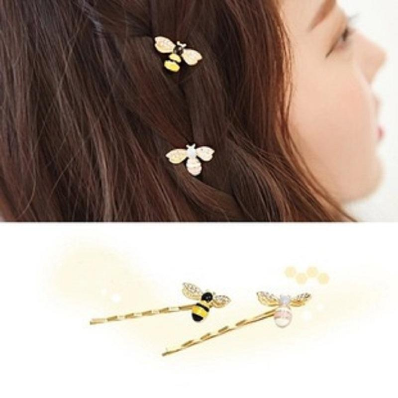 Colored Bee Hairpin