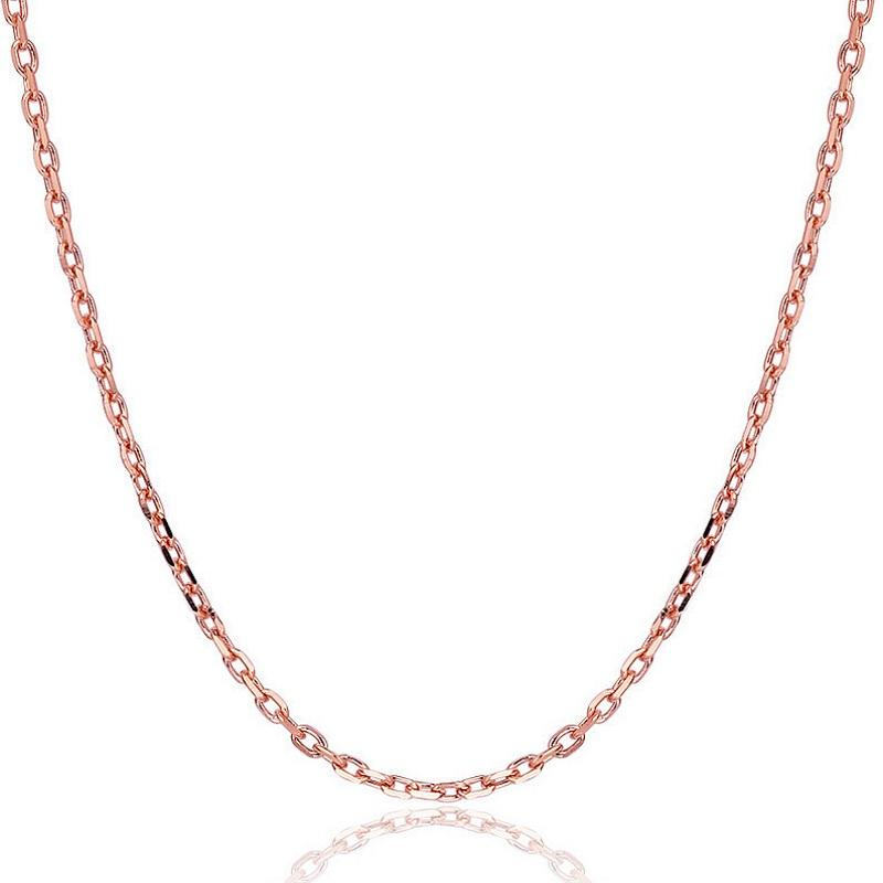 Rose Gold Cable Chain Necklace