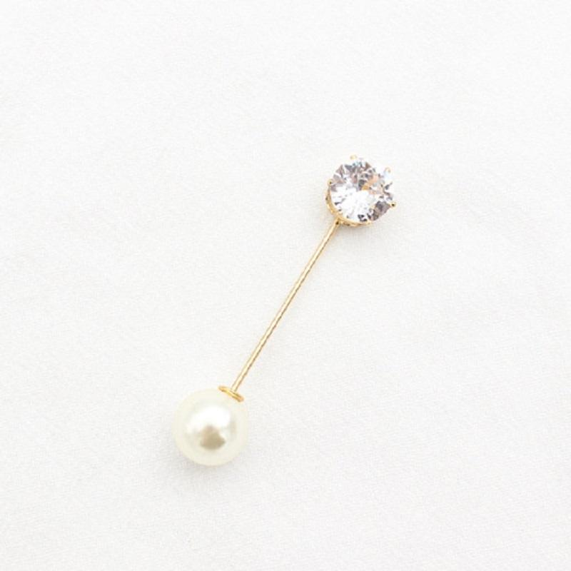 Round Pearl Brooch