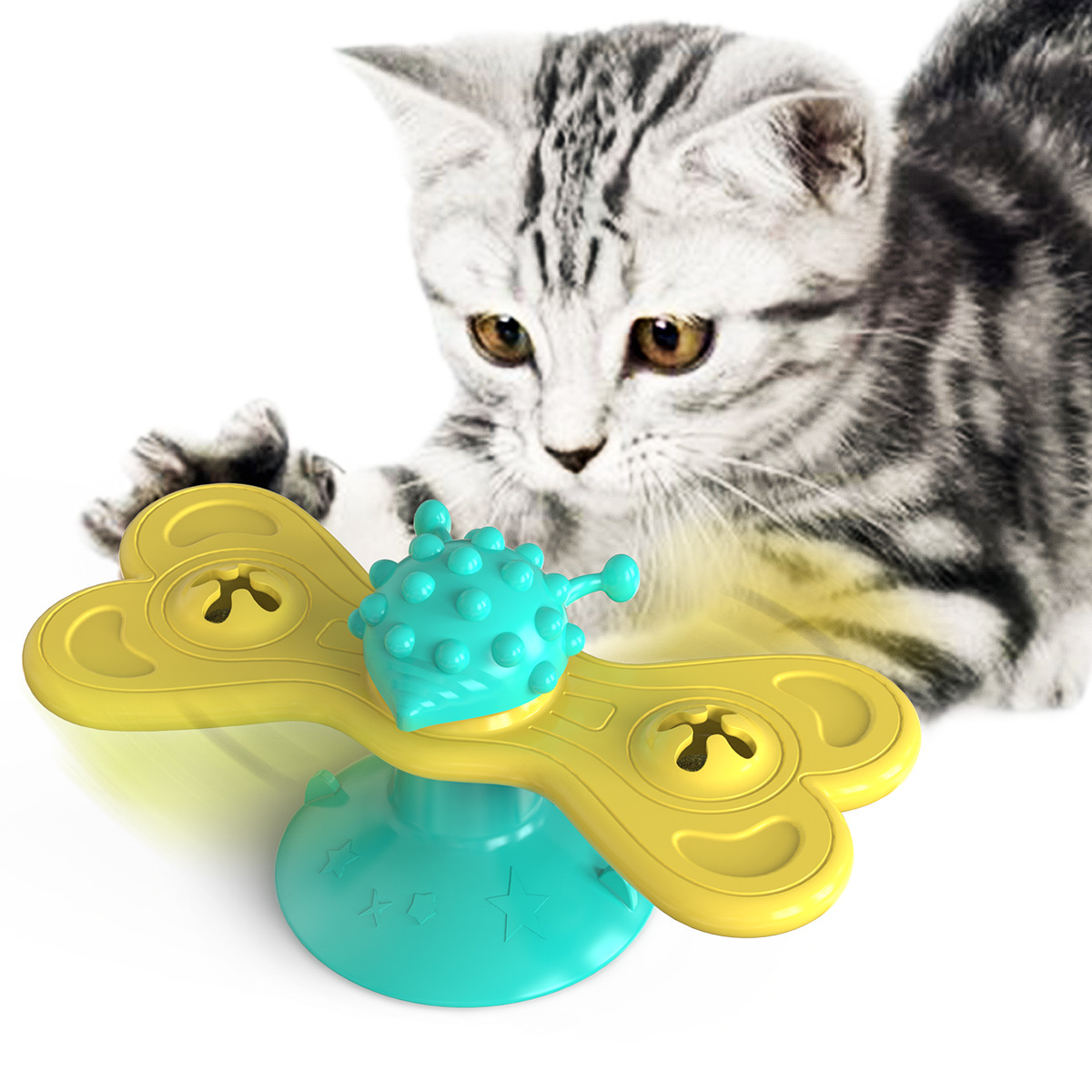 Entertaining Turntable Hair Rubbing Toys for Pets Boredom Reliever