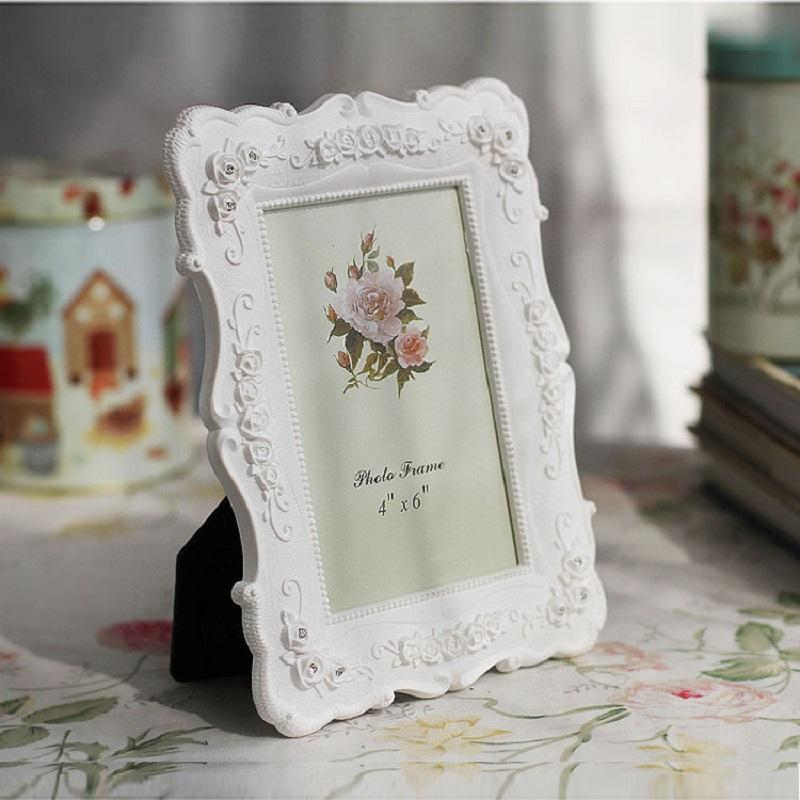 White Rose Picture Frame