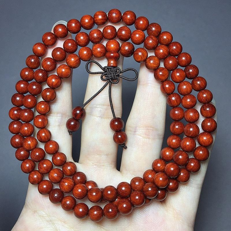 High-Density Indian Rosewood Bead Bracelet