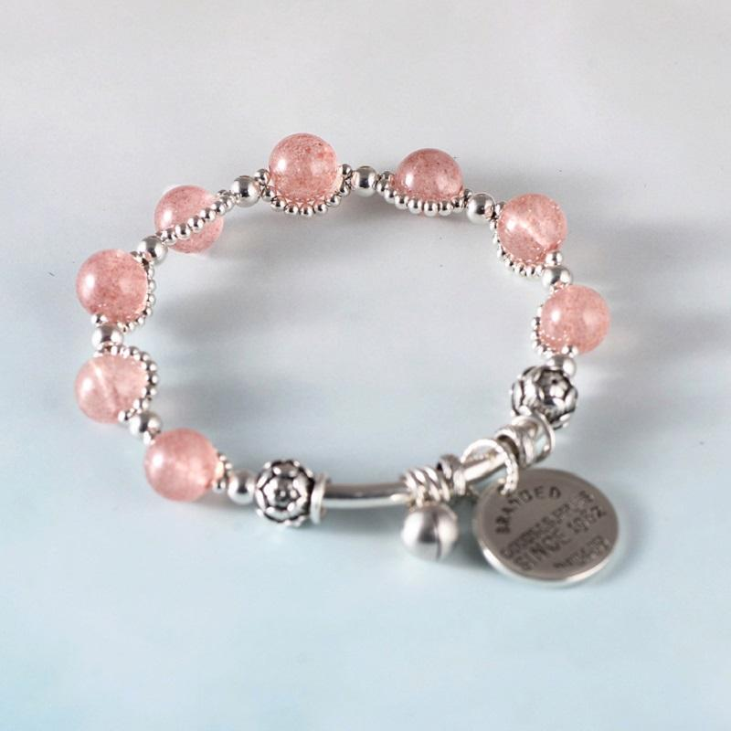 Branded Strawberry Crystal Bracelet