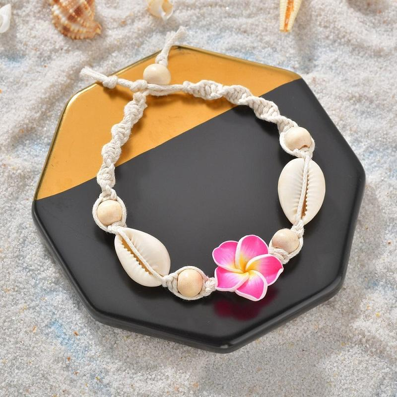 Flower and Sea Shells Anklet