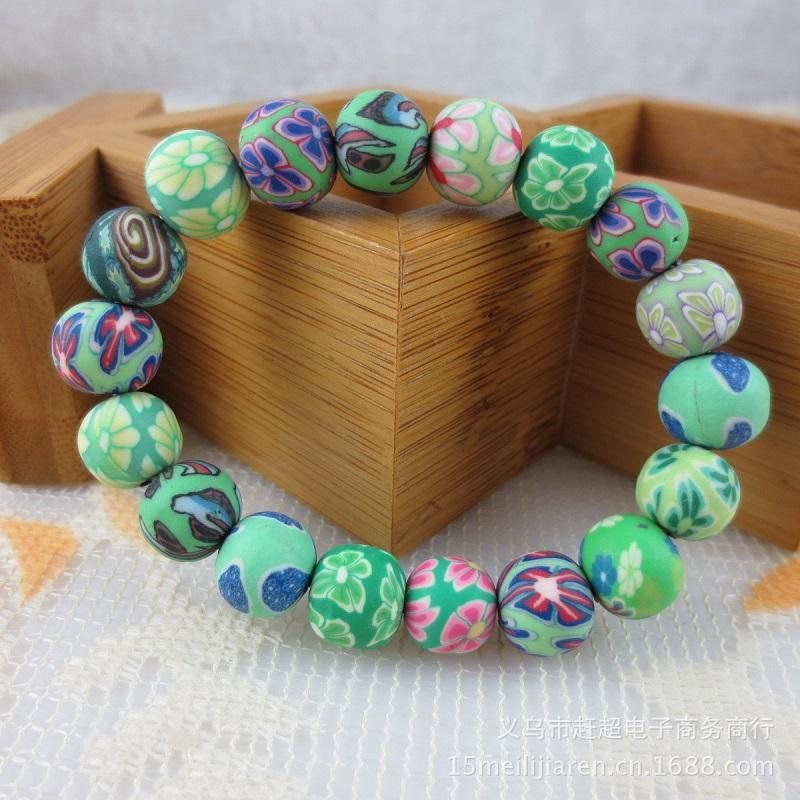 Floral Candy Colored Beads Bracelet