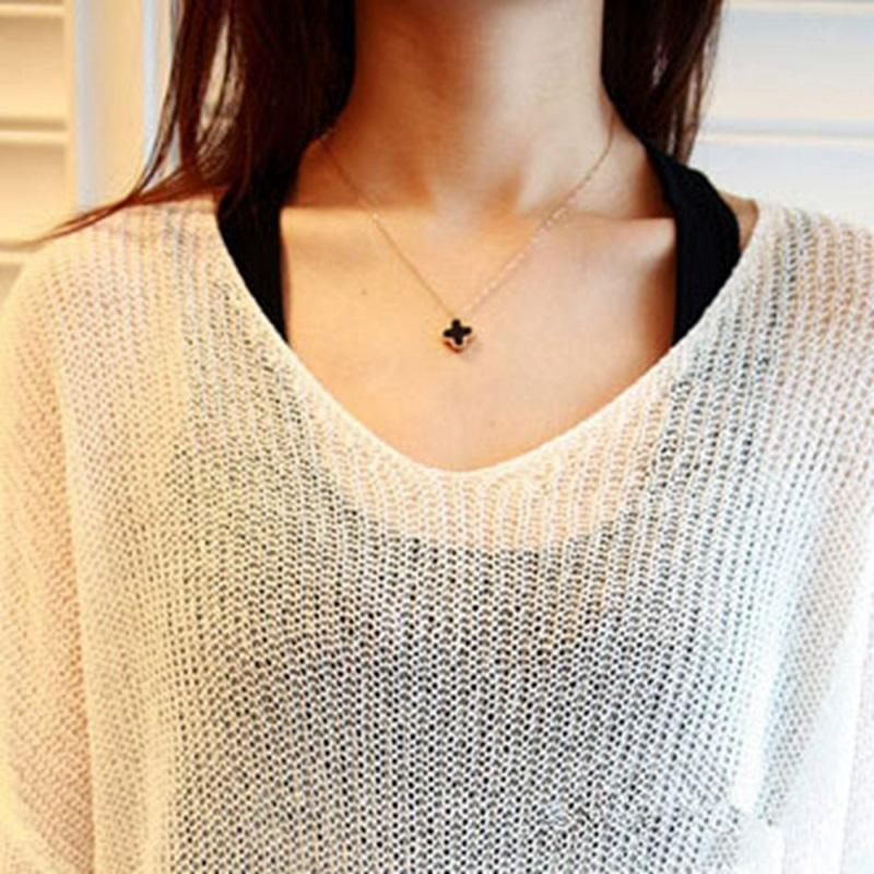 Double Sided Clover Necklace
