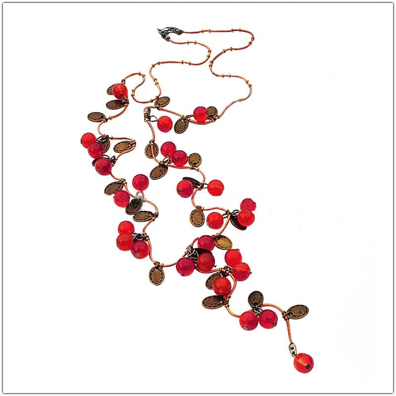 Full of Cherries Long Necklace