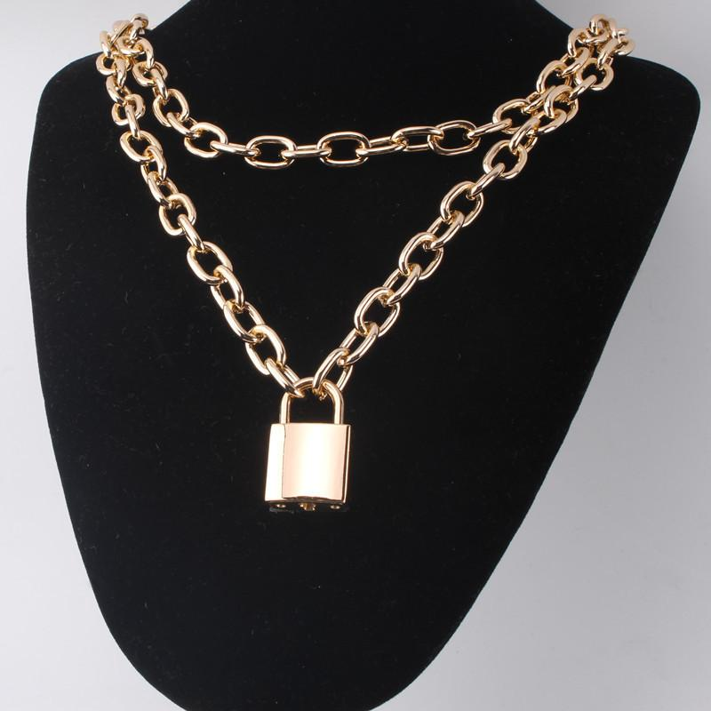 Chained Lock Necklace