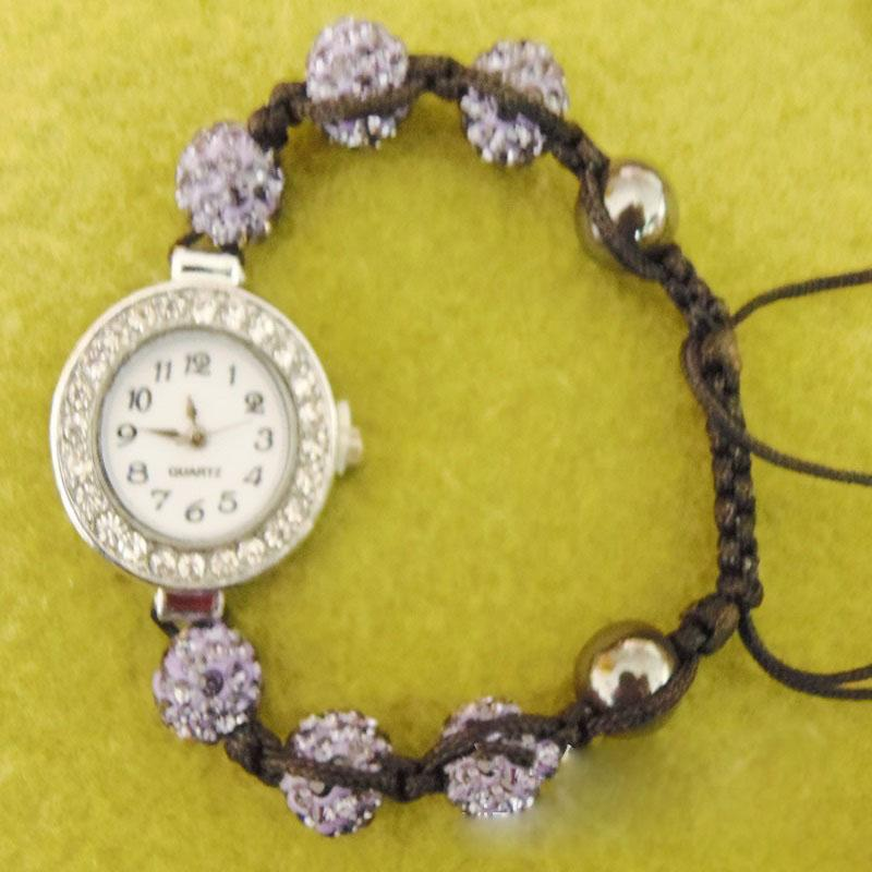 Colored Crystal Ball Watch