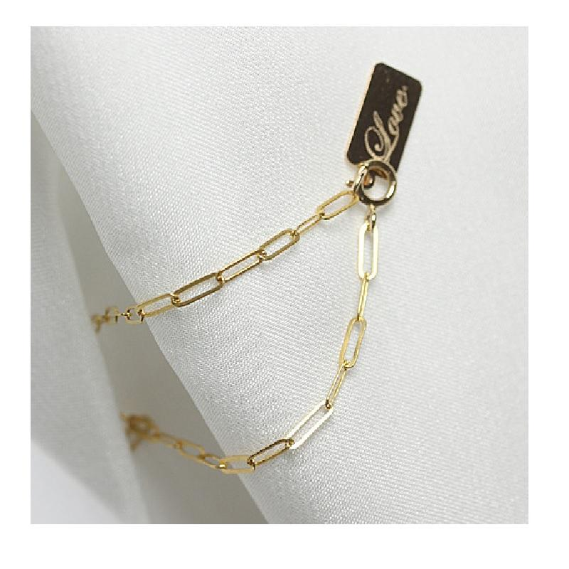 LOVE in Square Chain Bracelet