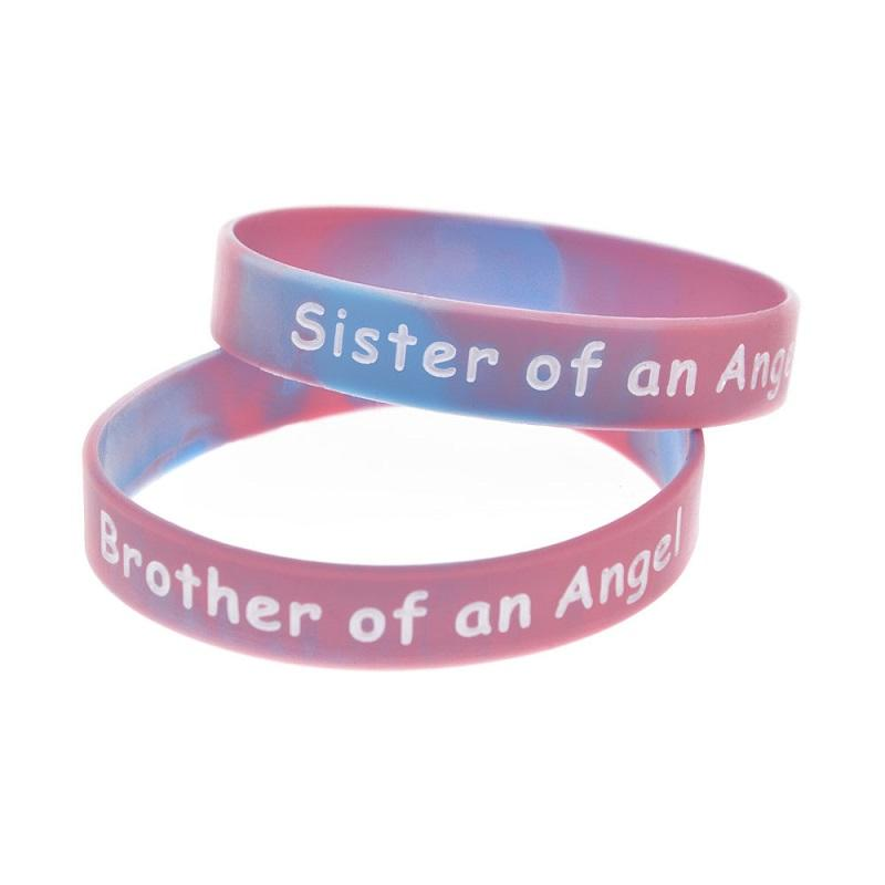 Brother/Sister of Angel Silicone Bracelet