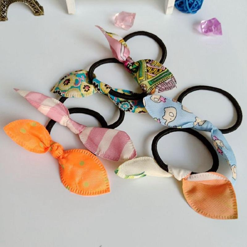 Designed Rabbit Ears Black Hair Tie