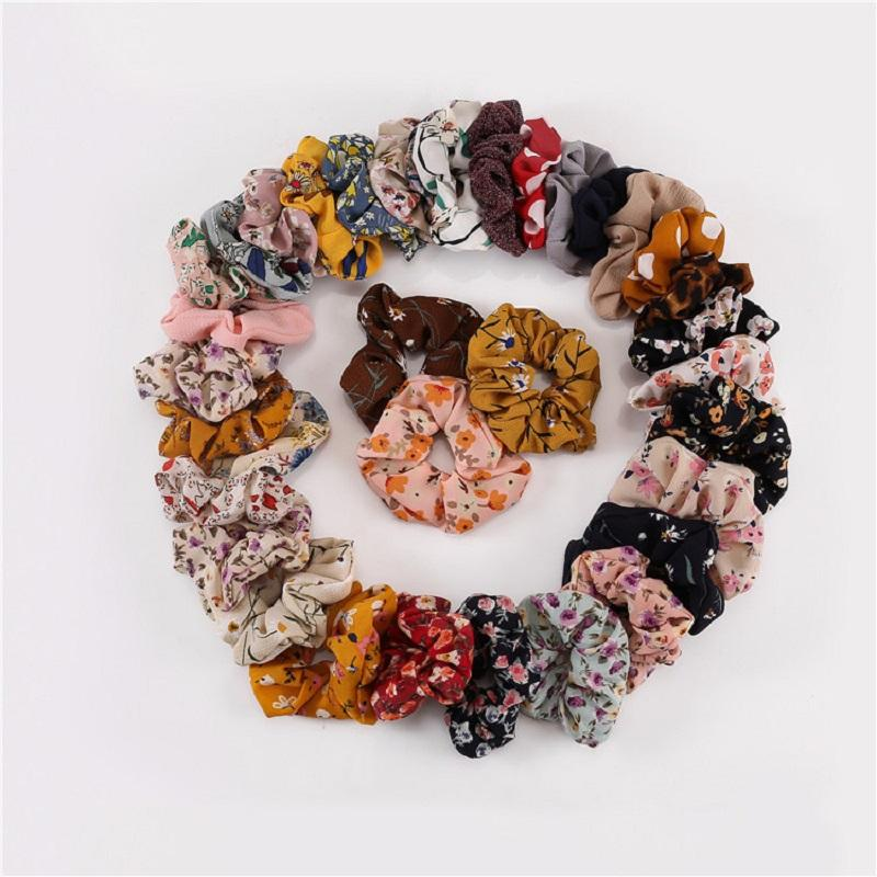 Floral Chiffon Hair Scrunchie