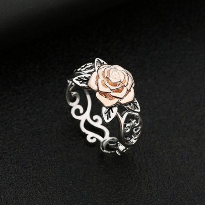 Charming Rose Silver Plated Ring