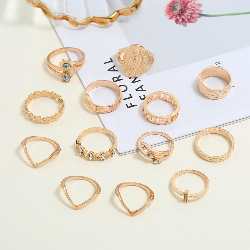 Madonna Vintage Rings (13 Pieces/Set)