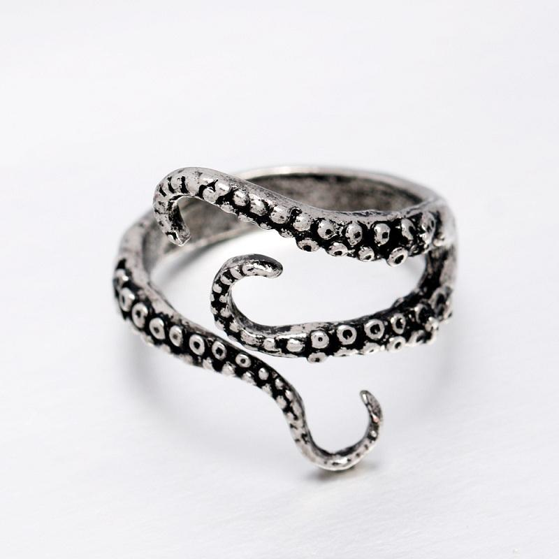 Octopus Tentacles Vintage Open Ring