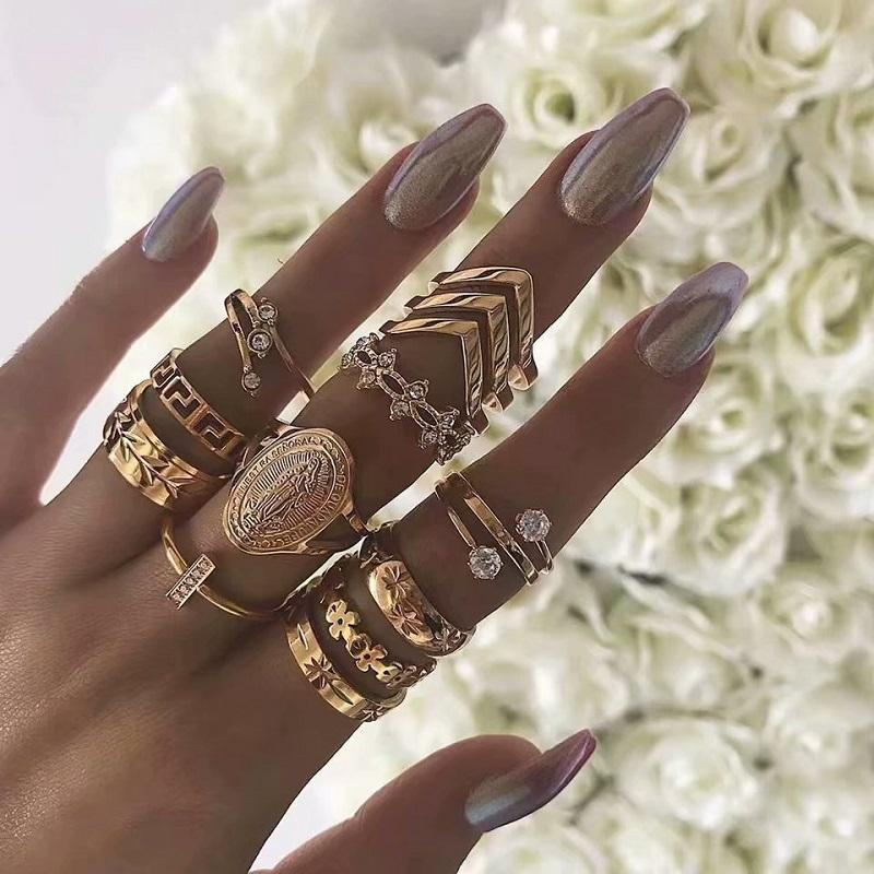 Marriote Vintage Rings (13 Pieces/Set)