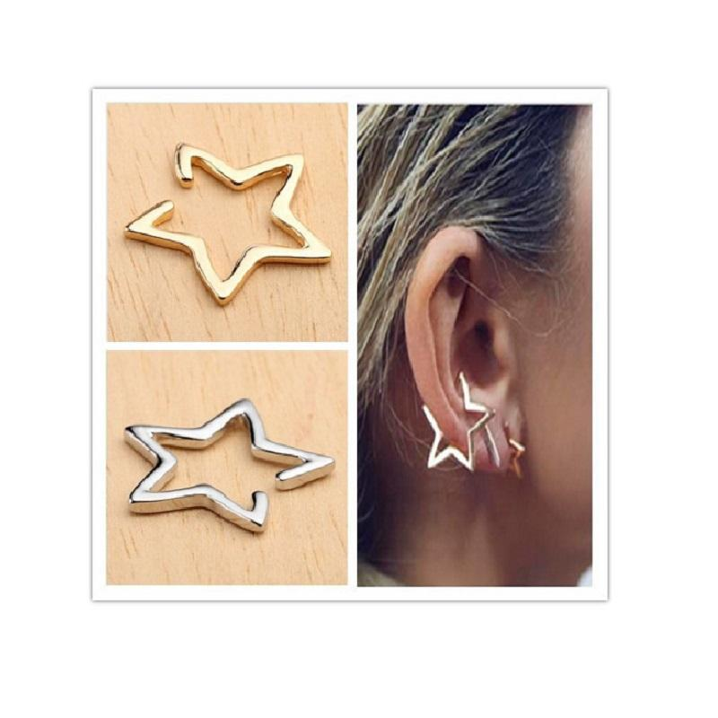 Hollow Star Ear Bone Cuff