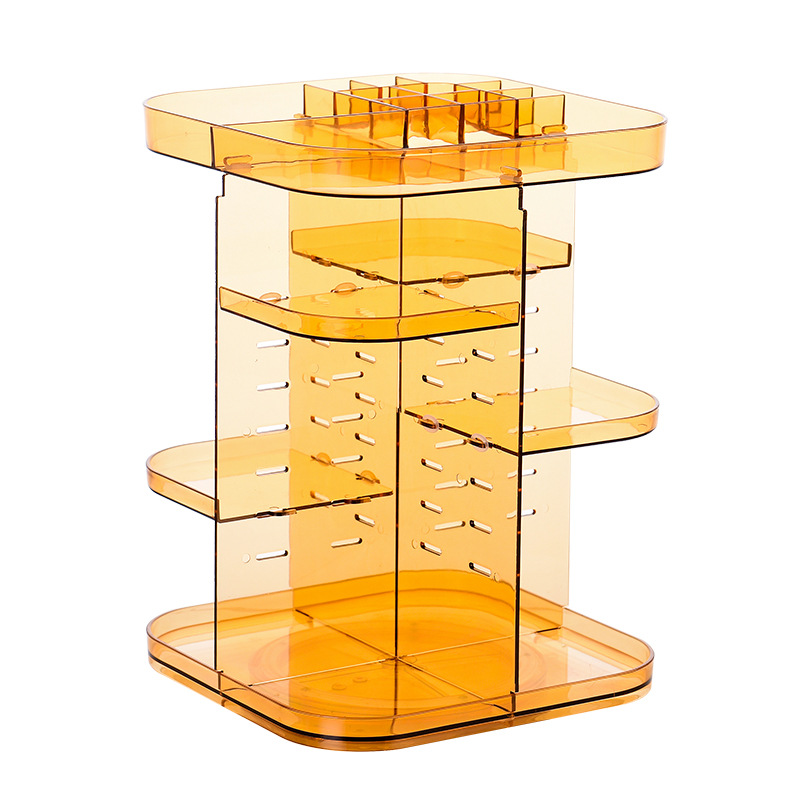 Rotating Acrylic Cosmetic Rack for Vanity Tables