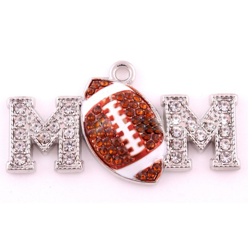 Rugby Ball MOM Pendant