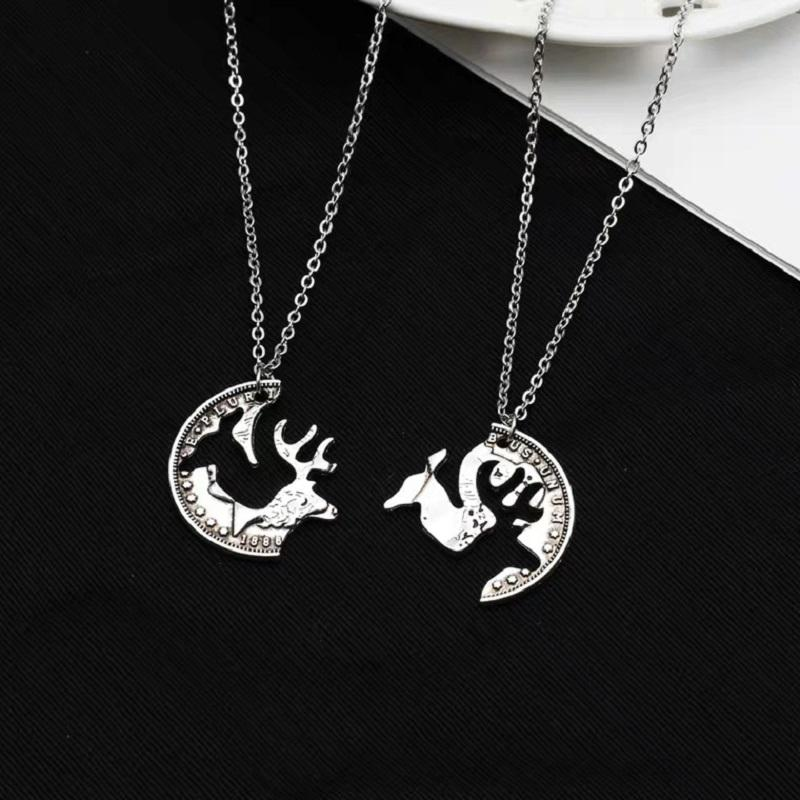 Buck and Doe Couple Necklace