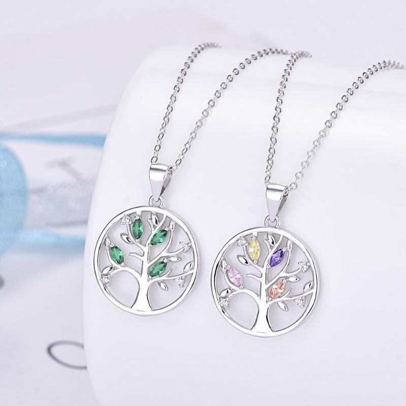 Colorful Leaves of Tree of Life Pendant
