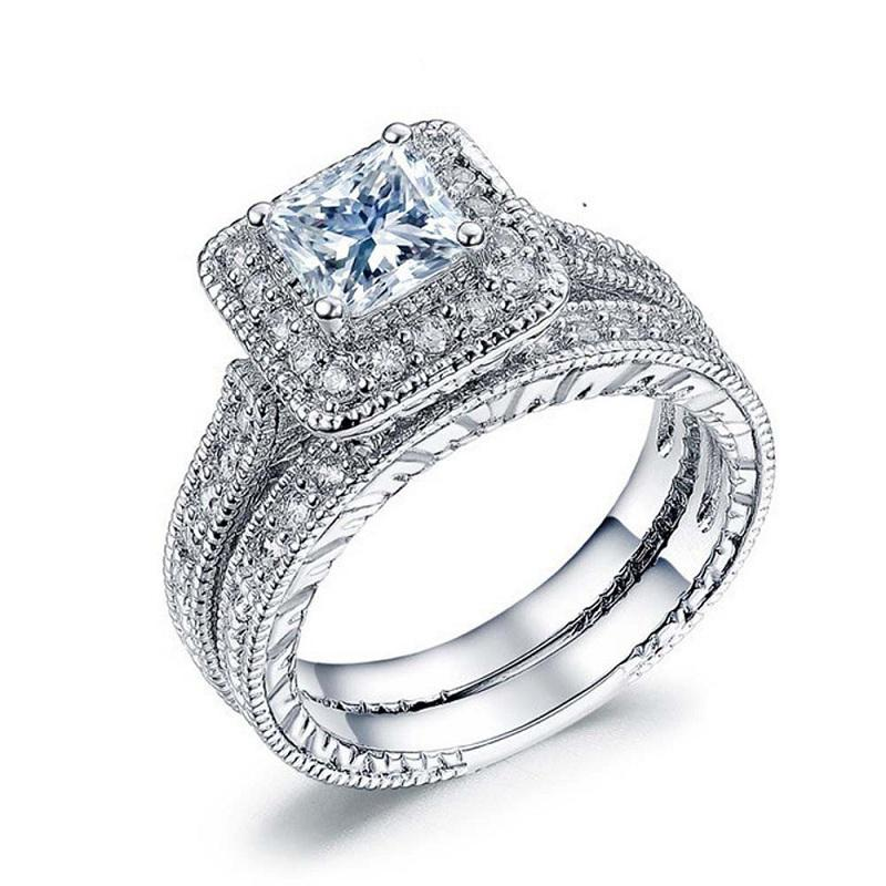 Trista Square Crystal Ring