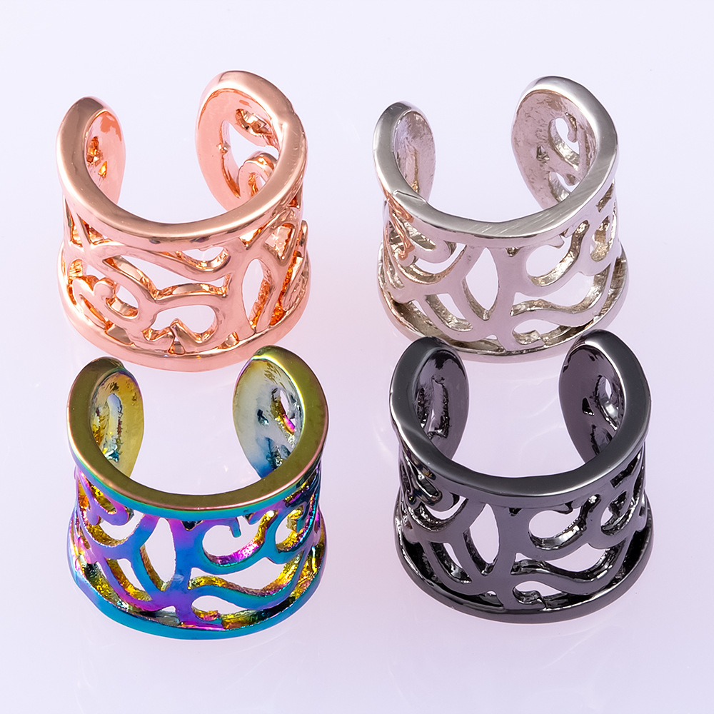 Modern Hollow-Patterned Ear Clip For Body Accessory