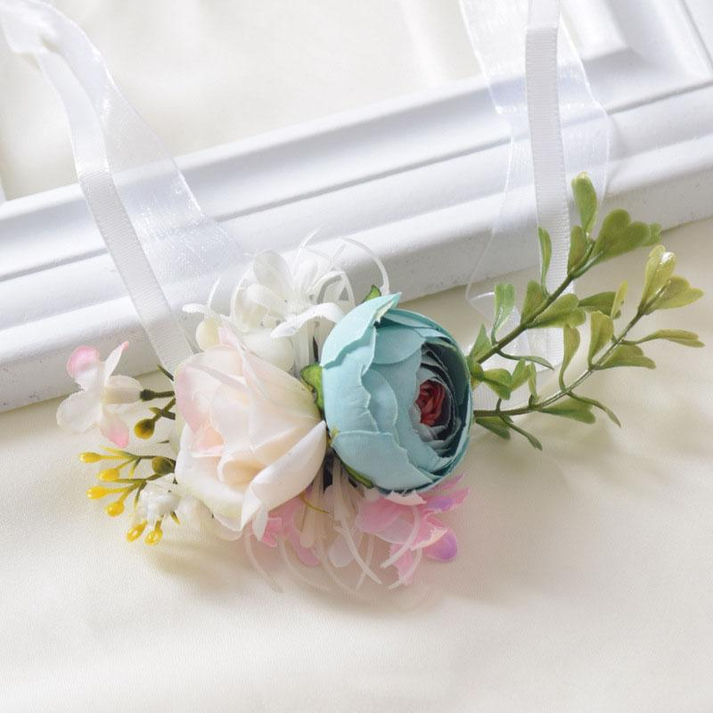 Two Tone Roses Wedding Corsage