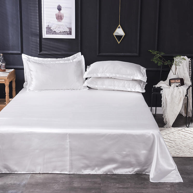 Stunning Solid Colored Ice Silk Bed Sheets for Fancy Beddings