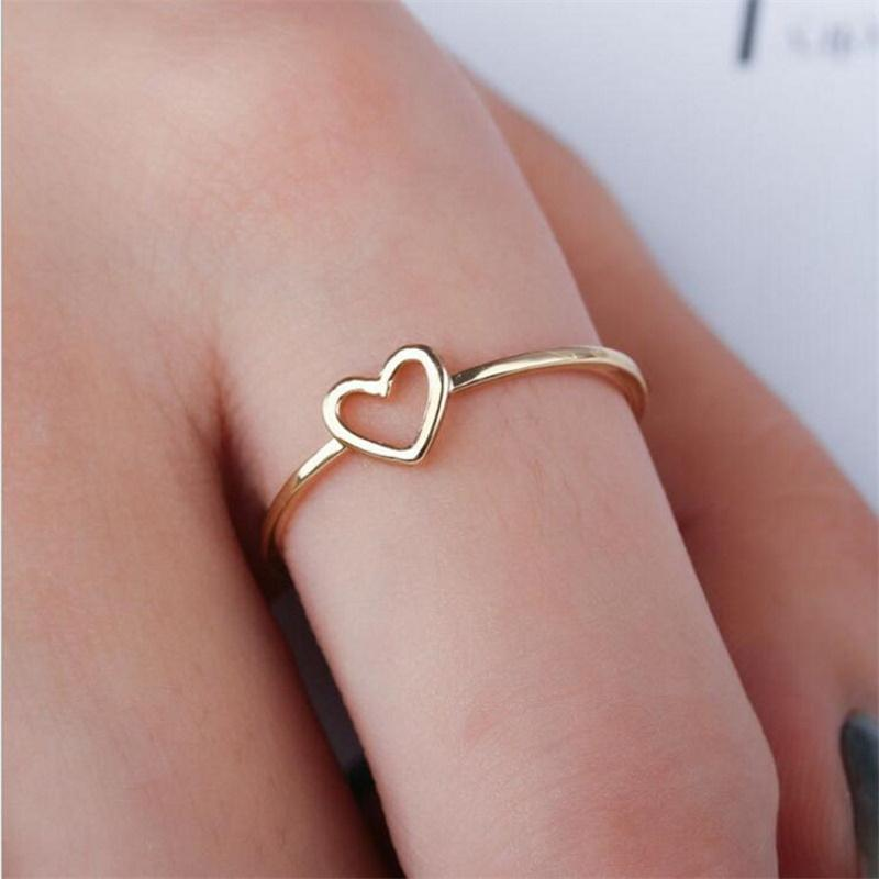 Hollow Mini Heart Ring