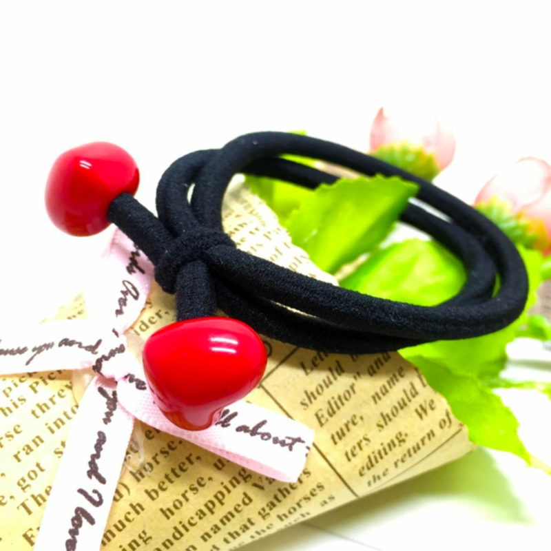 Lively Red Shapes Hair Tie