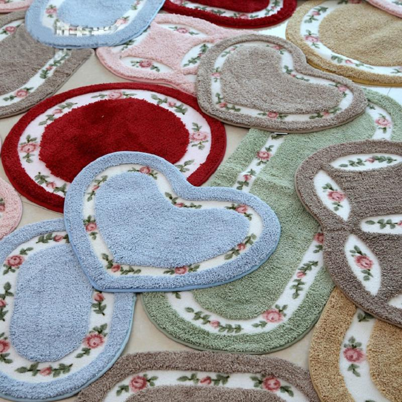 Heart Shape Floral Mat