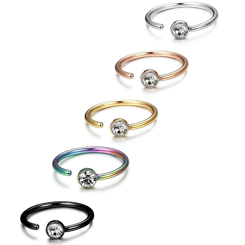 Faux Zircon Alloy Nose Ring