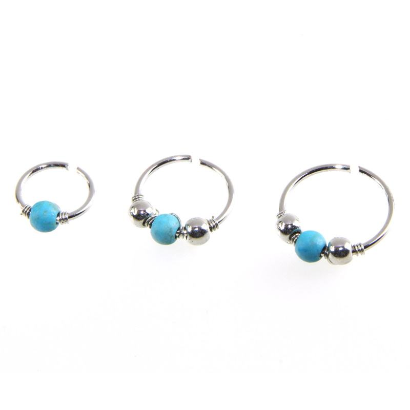 Metals and Turquoise Nose Rings