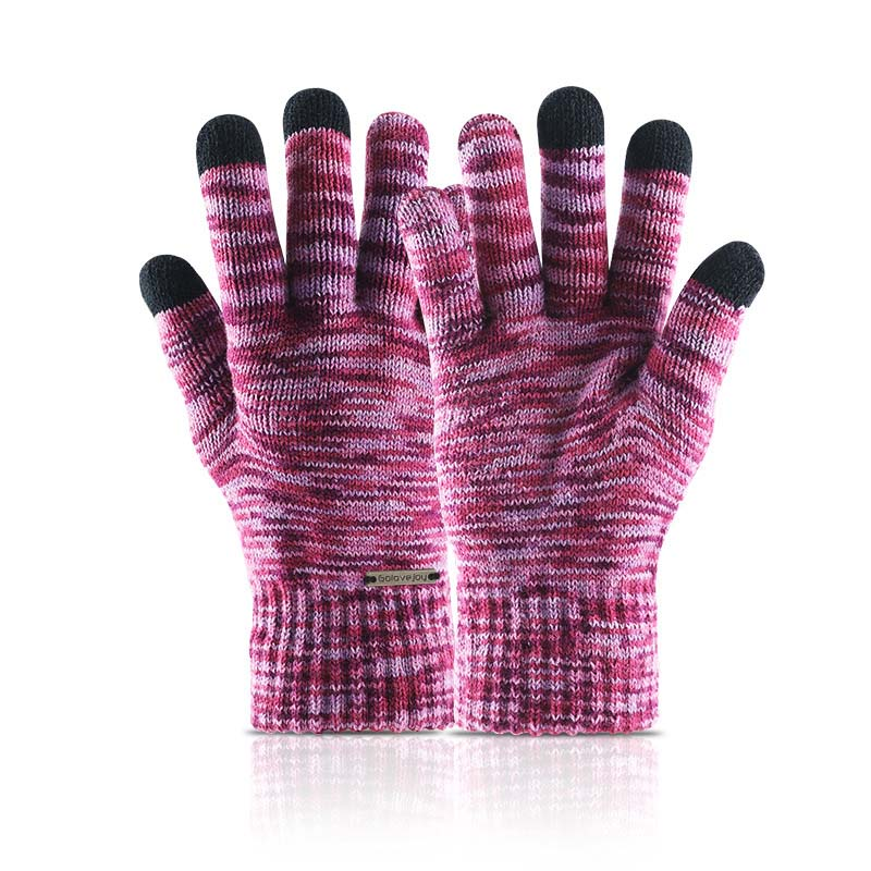 Knit Color Shades Gloves