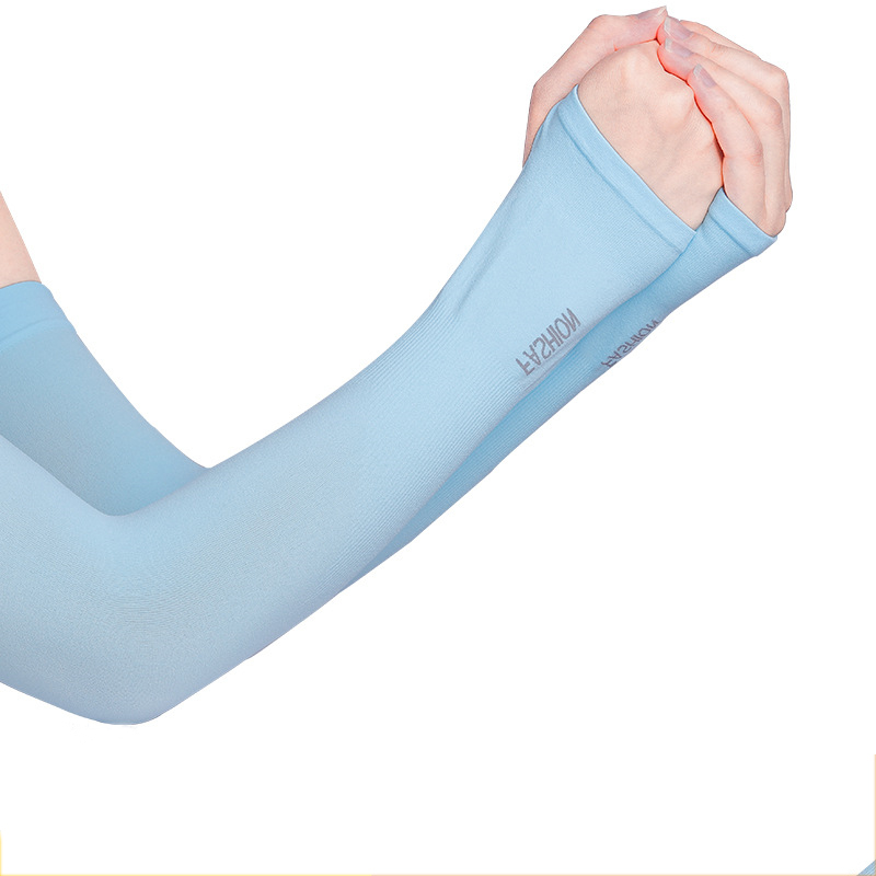 Nylon and Spandex Solid Color Arm Sleeves