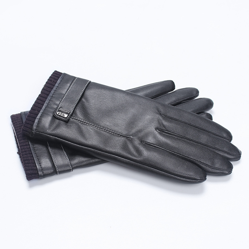 Black Leather Gloves for Men and Women