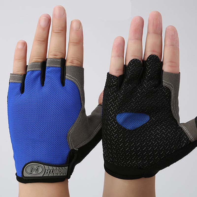 Two Tone Half Finger Riding Gloves