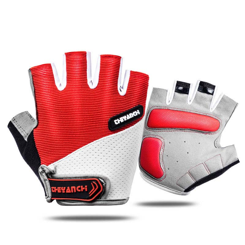 White and Colored Half Finger Gloves