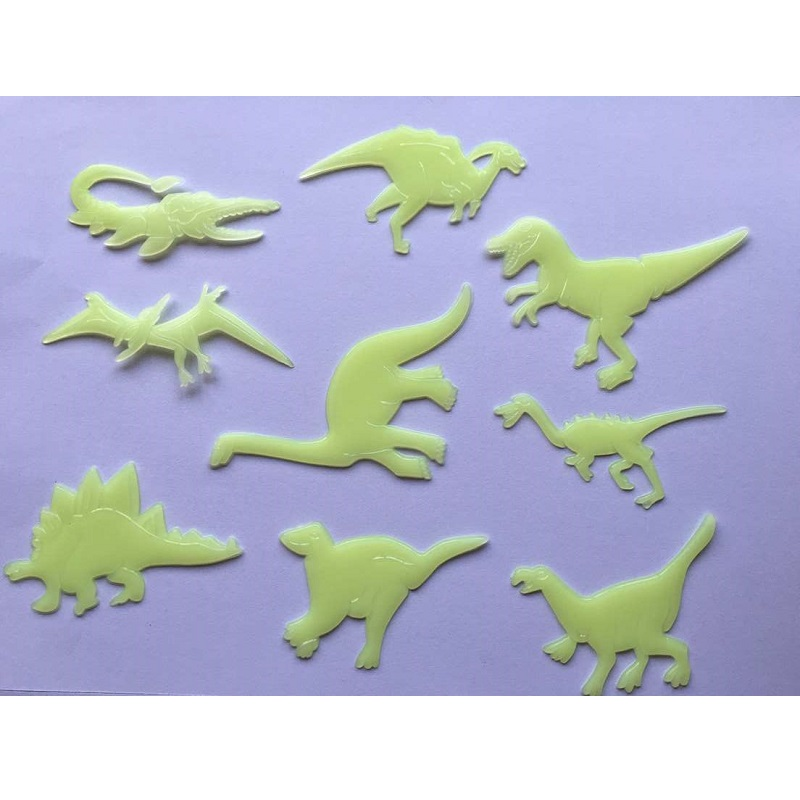 Luminous Dinosaur Bedroom Wall Sticker (9 Pieces/Set)