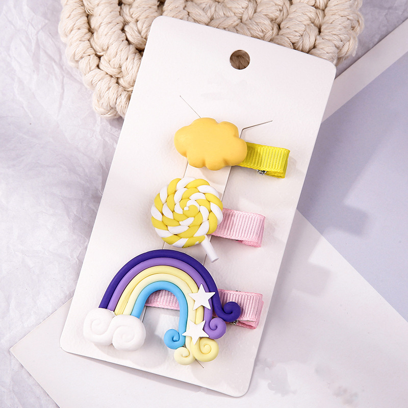 Rainbows and Other Charms Hair Clip Set